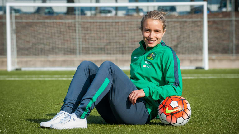 Canberra's Georgia Yeoman-Dale is chasing a spot in the Matildas' Olympic squad.