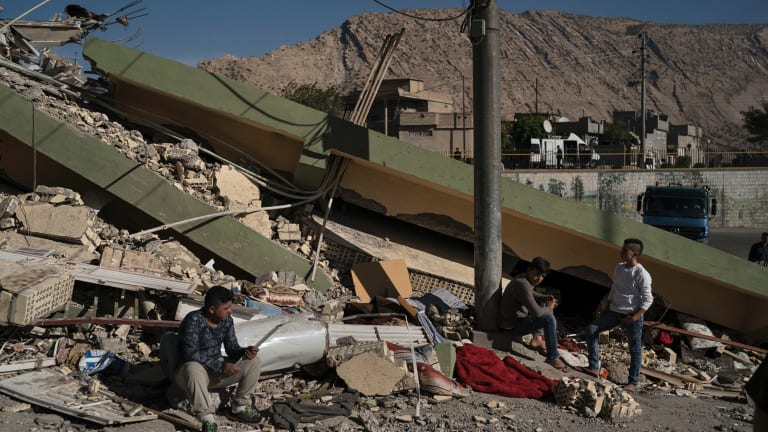 Authorities reported that a powerful 7.3 magnitude earthquake struck the Iraq-Iran border region late Sunday local time.