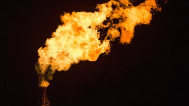 Flames shoot from a tower at Exxon Mobil Corp's Torrance Refinery in California earlier this month.