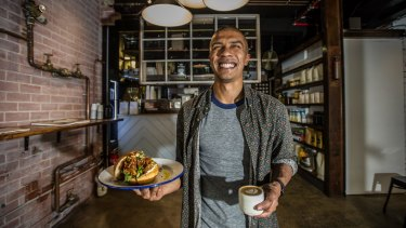 New Civic laneway cafe Meadow's co-owner Nathan Sami.