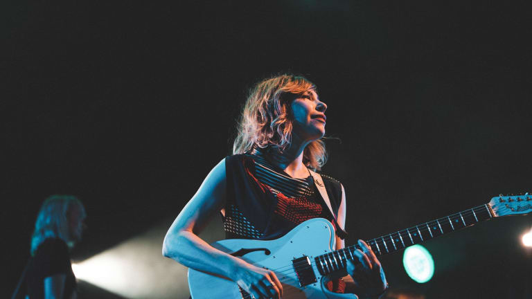Sleater-Kinney's Carrie Brownstein on stage.