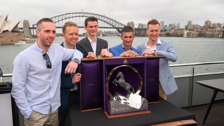 The Everest barrier draw in Sydney last week.