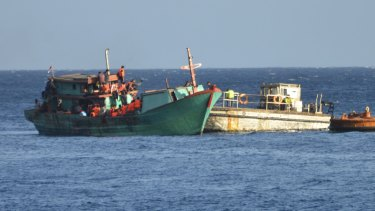 The boat that reached Saibai Island is understood to be much smaller than this asylum seeker boat from 2013.