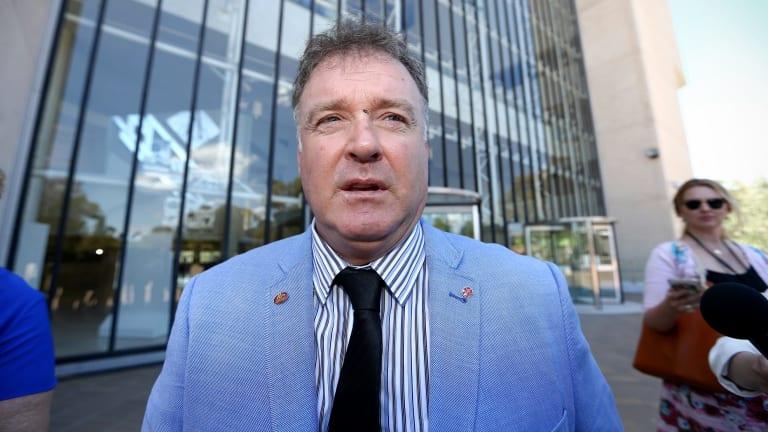 Former One Nation senator Rod Culleton outside the High Court in December.