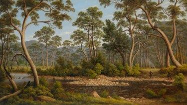 John Glover, The River Nile, Van Diemen's Land, from Mr Glover's farm, 1837 (detail), oil on canvas.