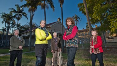Heritage campaigners (from left) Noela Vranich, Beth Mathews, Gay Hendriksen, Kerima-Gai Topp and Judith Dunn have long fought for the female factory precinct to be preserved.