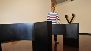 Prized: Japanese-born Canberran Kensuke Todo has won top honours for his steel sculptures.
