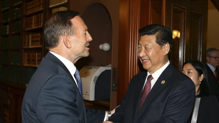 Prime Minister Tony Abbott with Chinese Premier Xi. The ChAFTA may eventually contain problematic clauses.