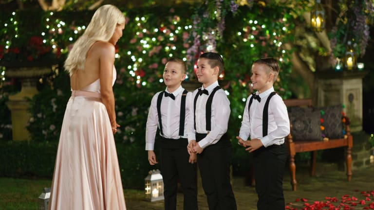 One suitor unveiled his secret weapon - his three nephews.