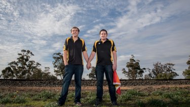 Equality under a big sky: Jayden McNamara and Justin Dicaprio.