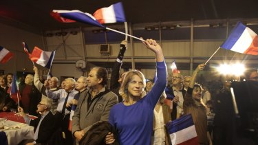 Supporters of Marion Marechal-Le Pen, vice-president of the National Front, in Avignon last weekend.