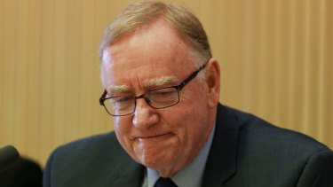 Committee Chair Senator Ian Macdonald, pictured questioning Professor Triggs on Monday, has in the past admitted to not reading the Australian Human Rights Commission reports.