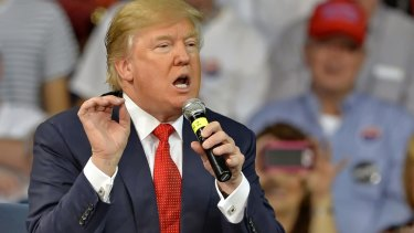 Donald Trump speaks at a town hall meeting on the University of South Carolina Aiken campus earlier this month.