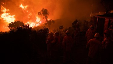 NSW Rural Fire Service crews prepare in the Blue Mountains in August.