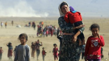 Tens of thousands of Yazidis and Christians have fled for their lives after IS declared a caliphate in parts of Iraq and Syria.