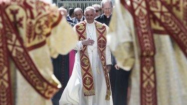 Pope Francis in Yerevan.