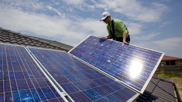 Good for the planet: Green energy such as solar power is getting cheaper.