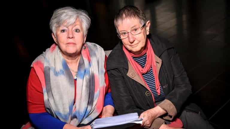Pamela Curr and Sister Brigid Arthur.