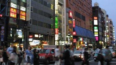 The Roppongi nightclub district in 2003.