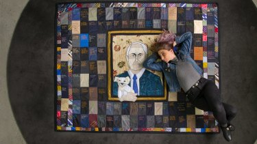Tal Fitzpatrick is making a quilt based on messages to the Prime Minister.