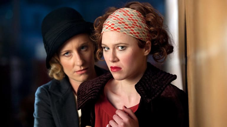 Anna McGahan (right) with Lucy Wigmore in Underbelly Razor.