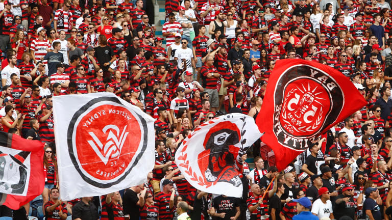Passionate: Wanderers fans.
