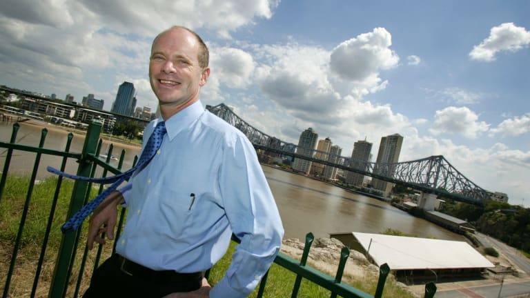 Campbell Newman, pictured during his first council campaign in 2004.