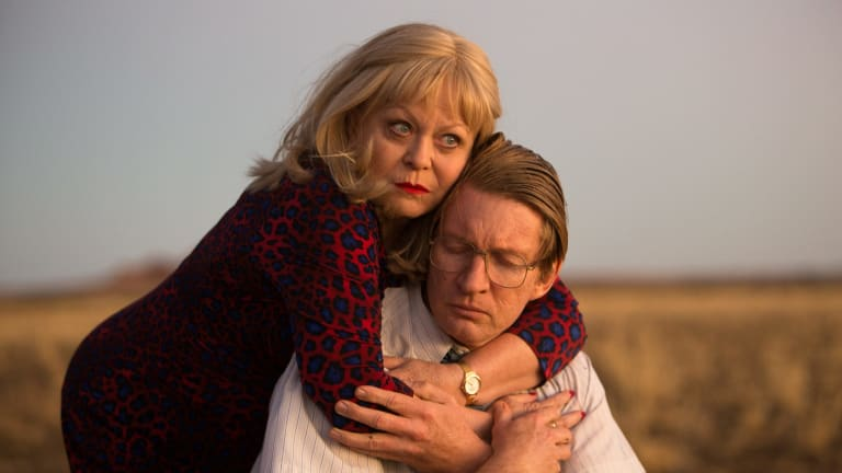 Jacki Weaver and David Wenham help make the most of edgy dialogue in their roles as co-conspirators.