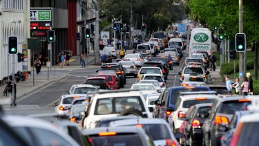 Options for improvement: traffic on Canberra's Northbourne Avenue.