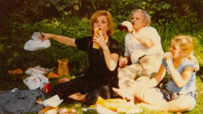"""The Harcourts picnic in gardens of Fontainebleau, France, in 1980: """"At the end of each trip he would say that's the last one. There's no money left."""""""