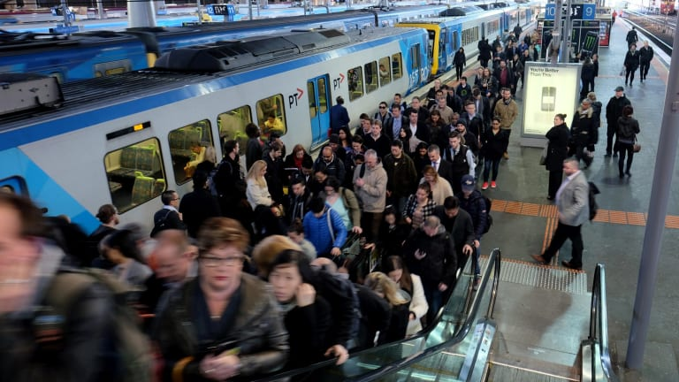 Train commuters facing congestion at Southern Cross Station
