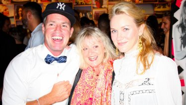 Ben and Naomi Watts with their mother Miv in New York in 2012.
