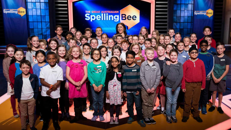 <i>The Great Australian Spelling Bee</i> where the competitors are aged between eight and 13.
