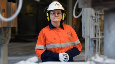 Kate Coates, general manager of AGL Macquarie, inside the Liddell power station.