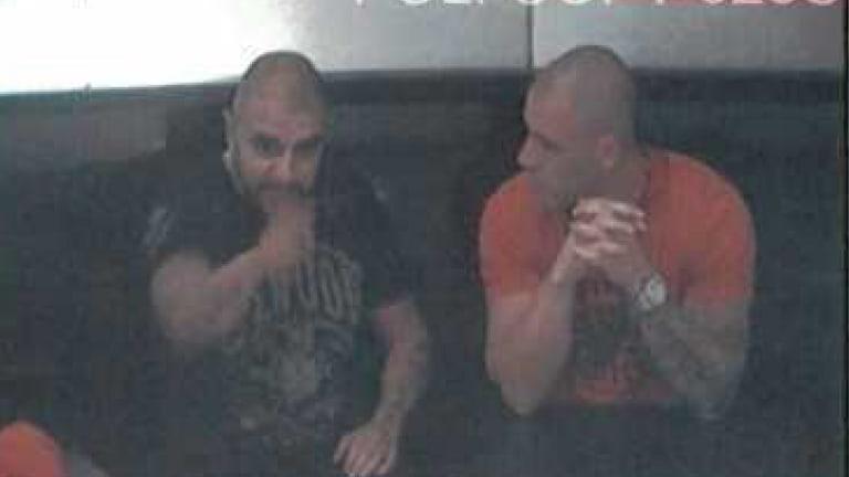 Gang leader Farhad Qaumi, left, with murdered mafia figure Pasquale Barbaro.