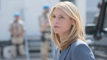 """Artists have """"hacked"""" Homeland, which stars Clare Danes, by writing subversive messages in set graffiti."""