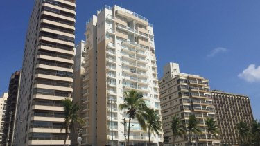 Among the charges, Lula is accused of corruption in relation to a triplex penthouse apartment, centre, in Guaruja on Sao Paulo's coast, Brazil.
