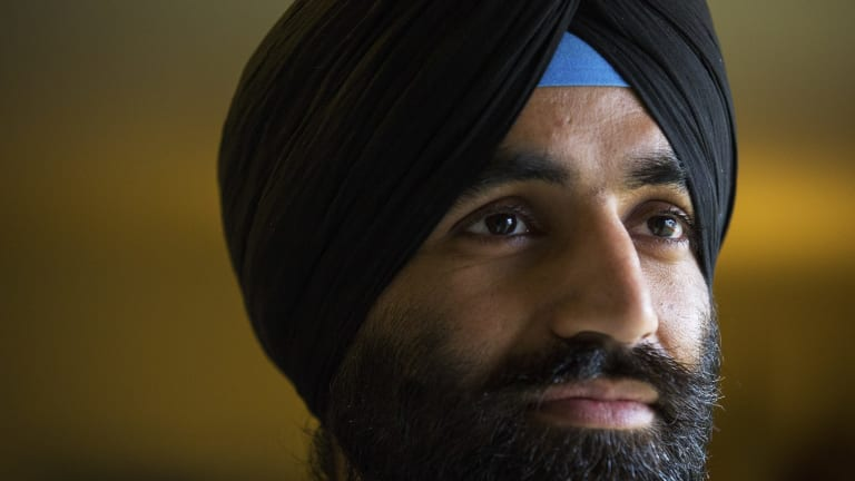 US Army Captain Simratpal Singh says his two worlds have finally come back together.