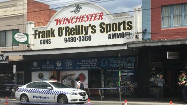 More than 60 guns were stolen from this Thornbury store on Monday.