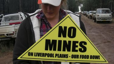 Opposition among farmers to mining on the Liverpool Plains.