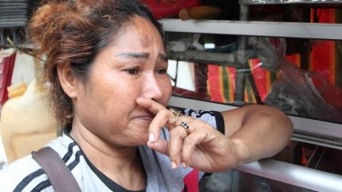Food stall vendor Poe Arun became teary when asked how she felt about the imminent demolition of the White Building.