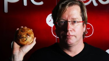 Pie meets face: Former Wall Street banker Wayne Homschek, one of the Pie Face founders.