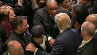 Donald Trump at a coalition of 100 African-American evangelical pastors and religious leaders.