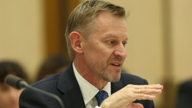 David Kalisch Australian Statistician Australian Bureau of Statistics appeared before the Economics References Committee public hearing into the 2016 Census at Parliament House in Canberra on Tuesday 25 October 2016. Photo: Andrew Meares