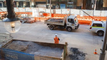 Businesses complain of noise and dust from construction on George Street.