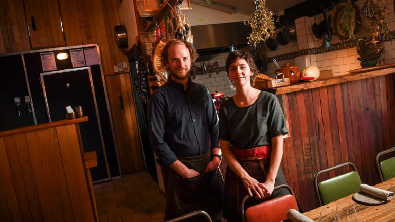 Lachlan Gardner and Zoe Birch at Greasy Zoe's.