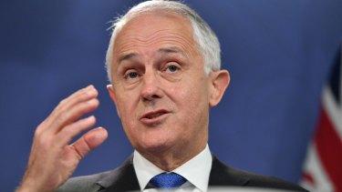 Crisis averted: Prime Minister Malcolm Turnbull in Sydney on Wednesday.