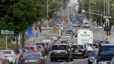 Peak-hour traffic congestion continues to worsen in Melbourne.