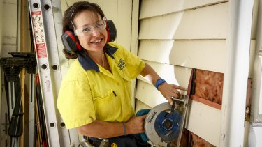 Marcelle Bagu earns more as a self-employed tradie than she did as a political adviser.
