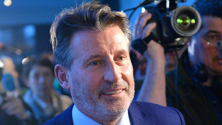 Camera teams follow IAAF-President Sebastian Coe after attending a press conference about WADA's Independent Commission Report in Munich, Germany, on Thursday.